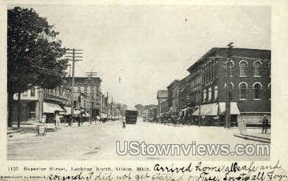 Superior Street - Albion, Michigan MI Postcard