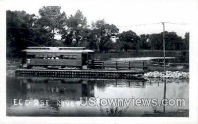 Ecorse River  - MIsc, Michigan MI Postcard