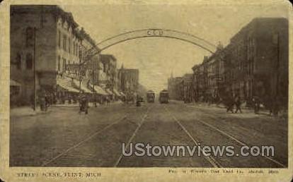 Street - Flint, Michigan MI Postcard