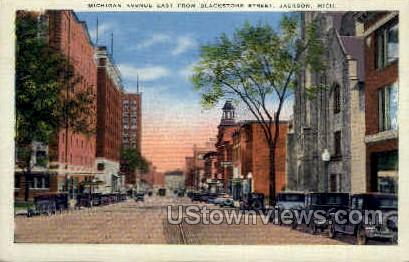 Michigan Avenue  - Jackson Postcard