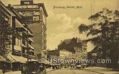 Broadway  - Detroit, Michigan MI Postcard