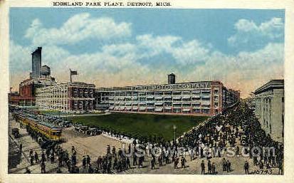 Highland Park Plant  - Detroit, Michigan MI Postcard