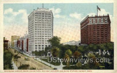Whitney Building & Hotel Statler - Detroit, Michigan MI Postcard