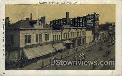 Gratiot Avenue  - Detroit, Michigan MI Postcard