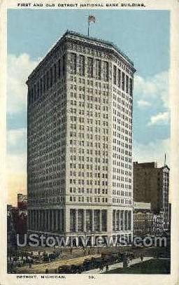 First & Old National Bank Building  - Detroit, Michigan MI Postcard