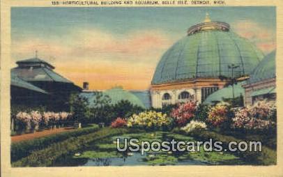 Horticultural Building & Aquarium - Detroit, Michigan MI Postcard