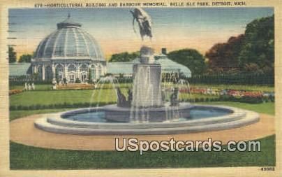 Horticultural Building, Barbour Memorial - Detroit, Michigan MI Postcard