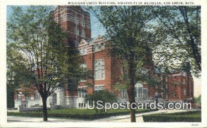 Michigan Union Building, University of Michigan - Ann Arbor Postcard