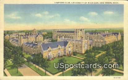 Lawyers Club, University of Michigan - Ann Arbor Postcard
