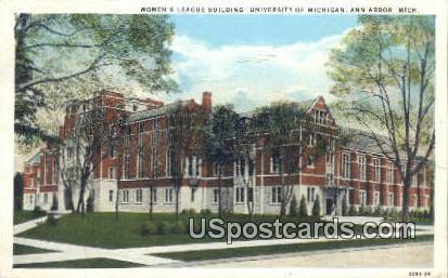 Women's League Building, U of Michigan - Ann Arbor Postcard