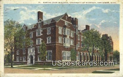 Martha Cook Building, University of Michigan - Ann Arbor Postcard