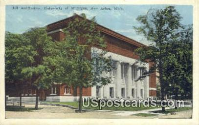 Hill Auditorium, University of Michigan - Ann Arbor Postcard