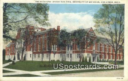 Michigan League Building, U of Michigan - Ann Arbor Postcard
