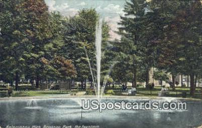 Bronson Park - Kalamazoo, Michigan MI Postcard