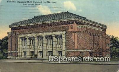 New Hill Memorial Hall, U of Michigan - Ann Arbor Postcard
