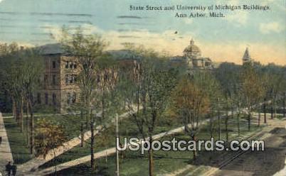 State Street, University of Michigan - Ann Arbor Postcard