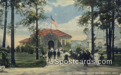The Aquarium, Belle Isle - Detroit, Michigan MI Postcard