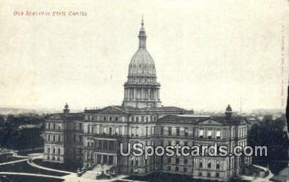 State Capitol - MIsc, Michigan MI Postcard