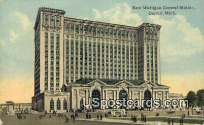 New Michigan Central Station - Detroit Postcard