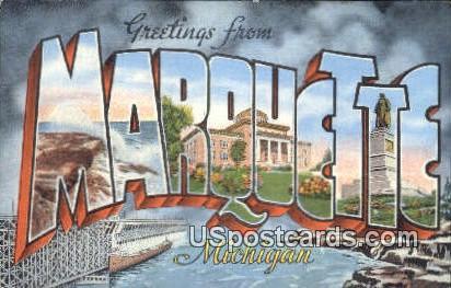 Marquette, Michigan Postcard      ;      Marquette, MI