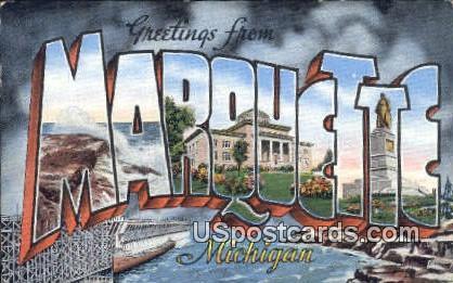 Marquette, MI Postcard      ;      Marquette, Michigan