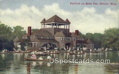 Pavilion on Belle Isle - Detroit, Michigan MI Postcard