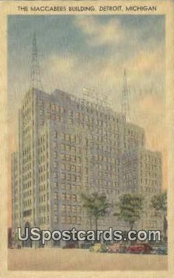 Maccabees Building - Detroit, Michigan MI Postcard