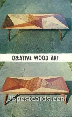 Creative Wood Art - Detroit, Michigan MI Postcard