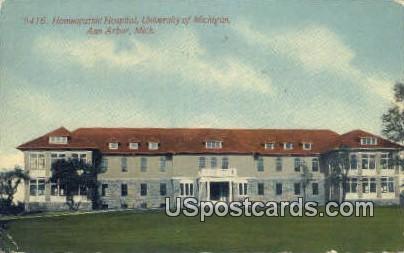 Homeopathic Hospital, University of Michigan - Ann Arbor Postcard