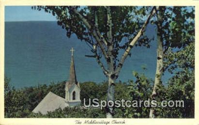 Middlevillage Church - MIsc, Michigan MI Postcard