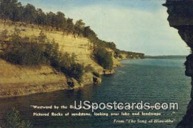Big Sea Water - MIsc, Michigan MI Postcard