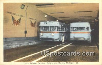 Tunnel, Windsor - Detroit, Michigan MI Postcard