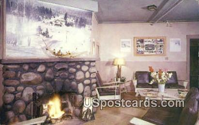 Lounge, Au Sable Ranch & Ski Resort - Gaylord, Michigan MI Postcard