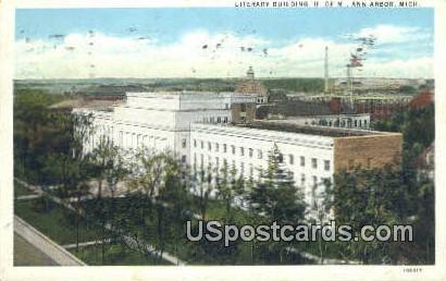 Literary Building, U of M - Ann Arbor, Michigan MI Postcard