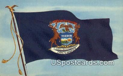 Michigan State Flag - MIsc Postcard