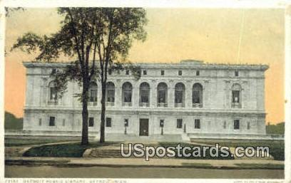Detroit Public Library - Michigan MI Postcard