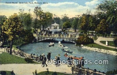 Band Stand, Belle Isle Park - Detroit, Michigan MI Postcard