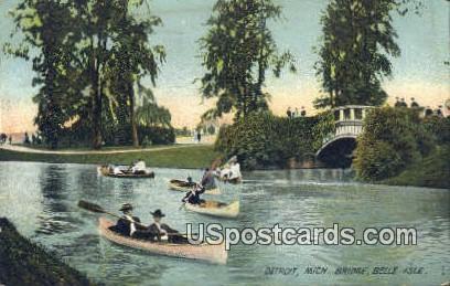 Bridge Belle Isle - Detroit, Michigan MI Postcard