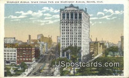 Grand Circus Park - Detroit, Michigan MI Postcard