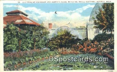 Aquarium & Horticultural Building - Detroit, Michigan MI Postcard