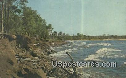 White Capped Waves - Marquette, Michigan MI Postcard