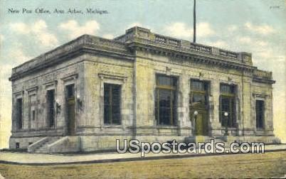 New Post Office - Ann Arbor, Michigan MI Postcard
