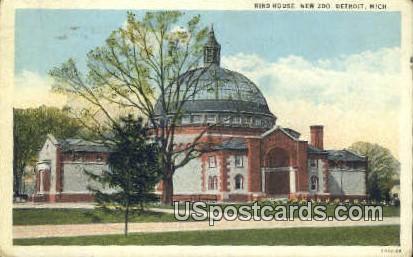 Bird House, New Zoo - Detroit, Michigan MI Postcard