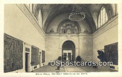 Main Hall, Detroit Institute of Arts - Michigan MI Postcard
