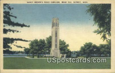 Nancy Brown's Peace Carillon, Belle Isle - Detroit, Michigan MI Postcard