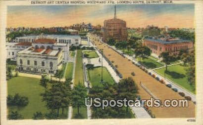 Detroit Art Center - Michigan MI Postcard