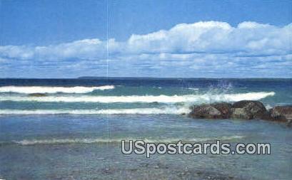 Rocks & Surf - MIsc, Michigan MI Postcard