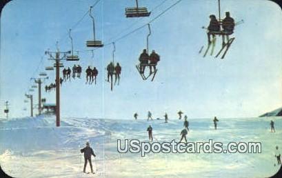 Skiing - MIsc, Michigan MI Postcard