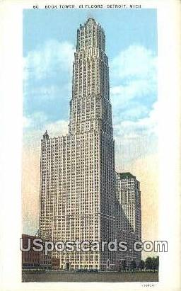 Book Tower - Detroit, Michigan MI Postcard