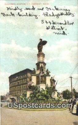 Soldiers Monument - Detroit, Michigan MI Postcard